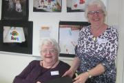 Barbara Hughes with Home-Start Wyre Forest chairman Megan Weaver