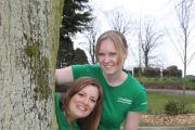 Laura Quigley, senior account manager (front) and Sarah Taylor, account manager, from Gough Bailey Wright