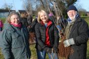 From left is Penny Usher, local landscape architect, Naomi Anderson and Mike Thornhill from Leominster in Bloom.