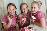 Cup cake bakers  (from left) Grace Wyatt,  Milena Faligowska, Francesca Banno, all aged 10.