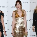 Ledbury Reporter: Strike a pose: Dakota Johnson, Karlie Kloss and Suki Waterhouse looked stunning at the Vogue 100 launch event