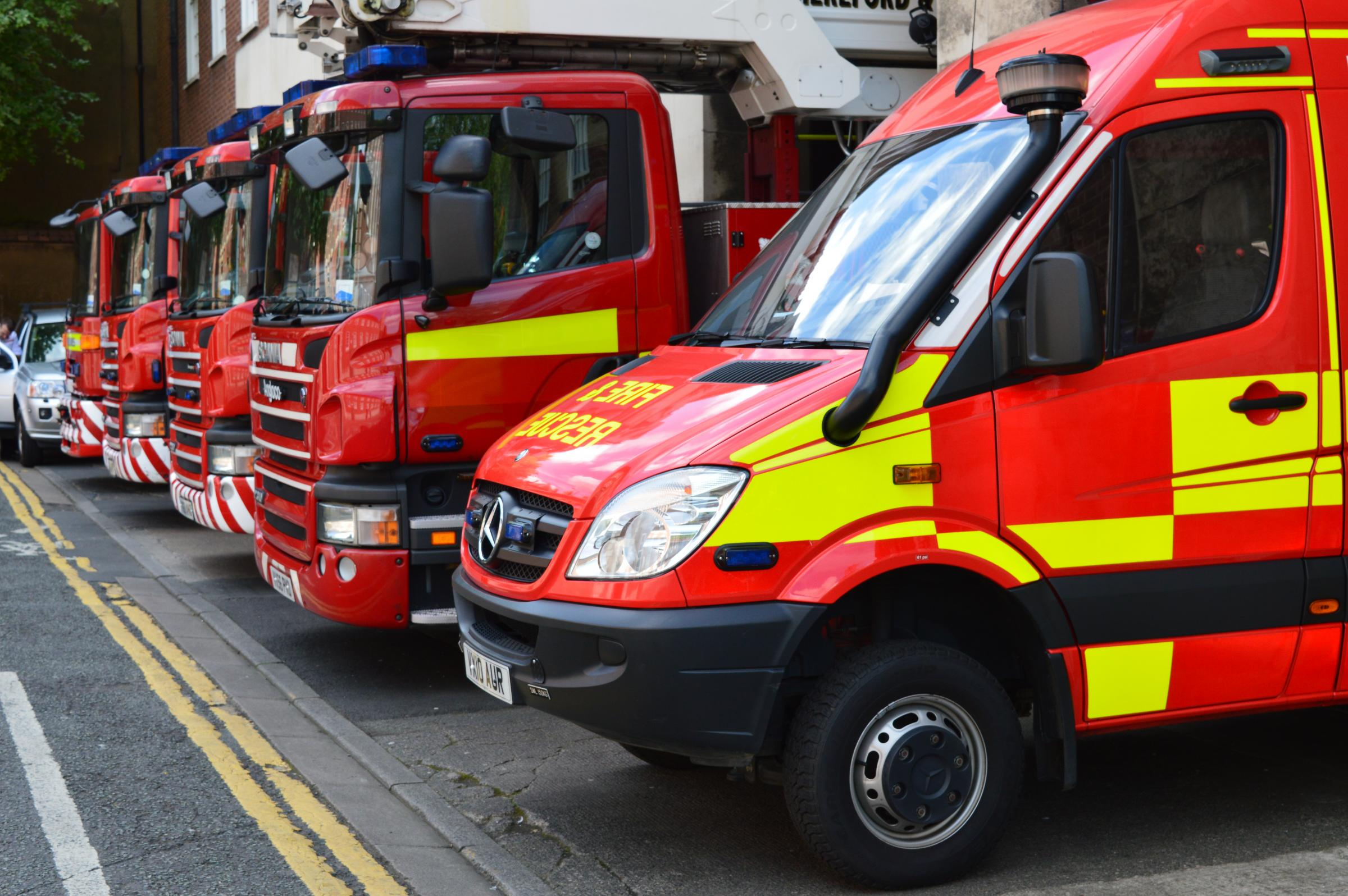 Fire crews were called to a house in Ross-On-Wye just after 1am this morning.