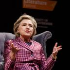 Ledbury Reporter: Cheltenham Literary Festival handout photo of former US secretary of state and presidential hopeful Hillary Clinton as she appears at the Cheltenham Literature Festival to promote her new book, What Happened.