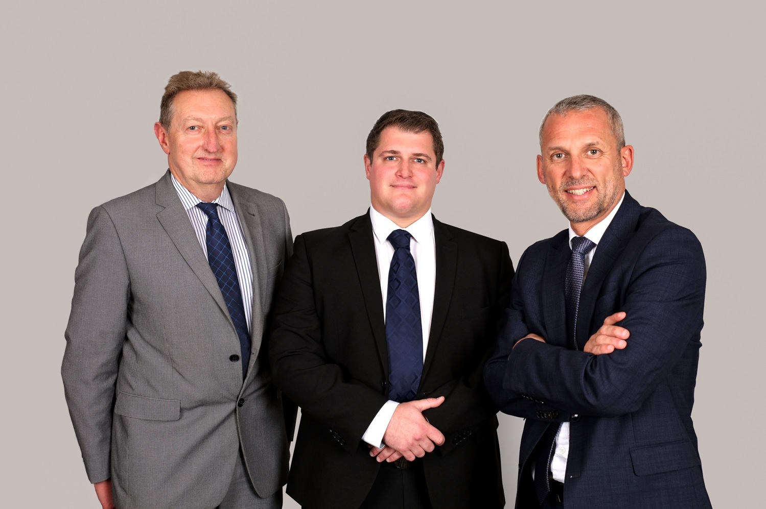 GROWTH PLANS: Chris Jones, James Willcock and Andrew Lamb of Harris Lamb's residential team.