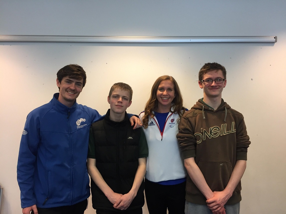AMBASSADORS: sports-minded Newent students Josh Hanley, Tom Cleverley, Kate Grey and Marcus Hopkins