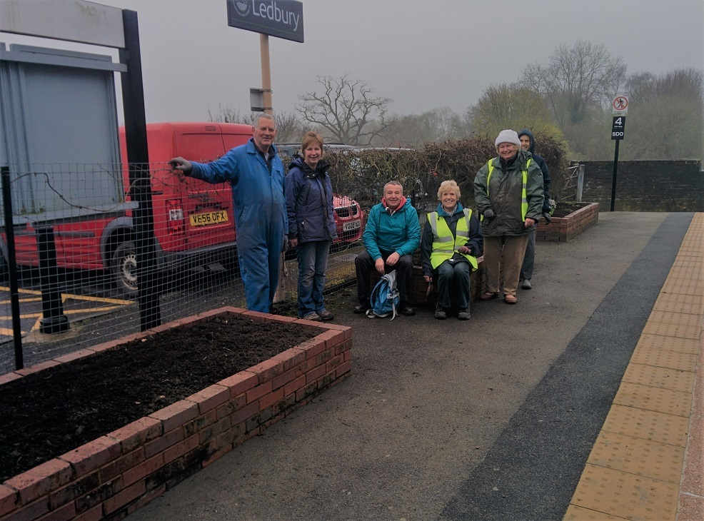 COMMUNITY-MINDED: Ledbury in Bloom volunteers at the station