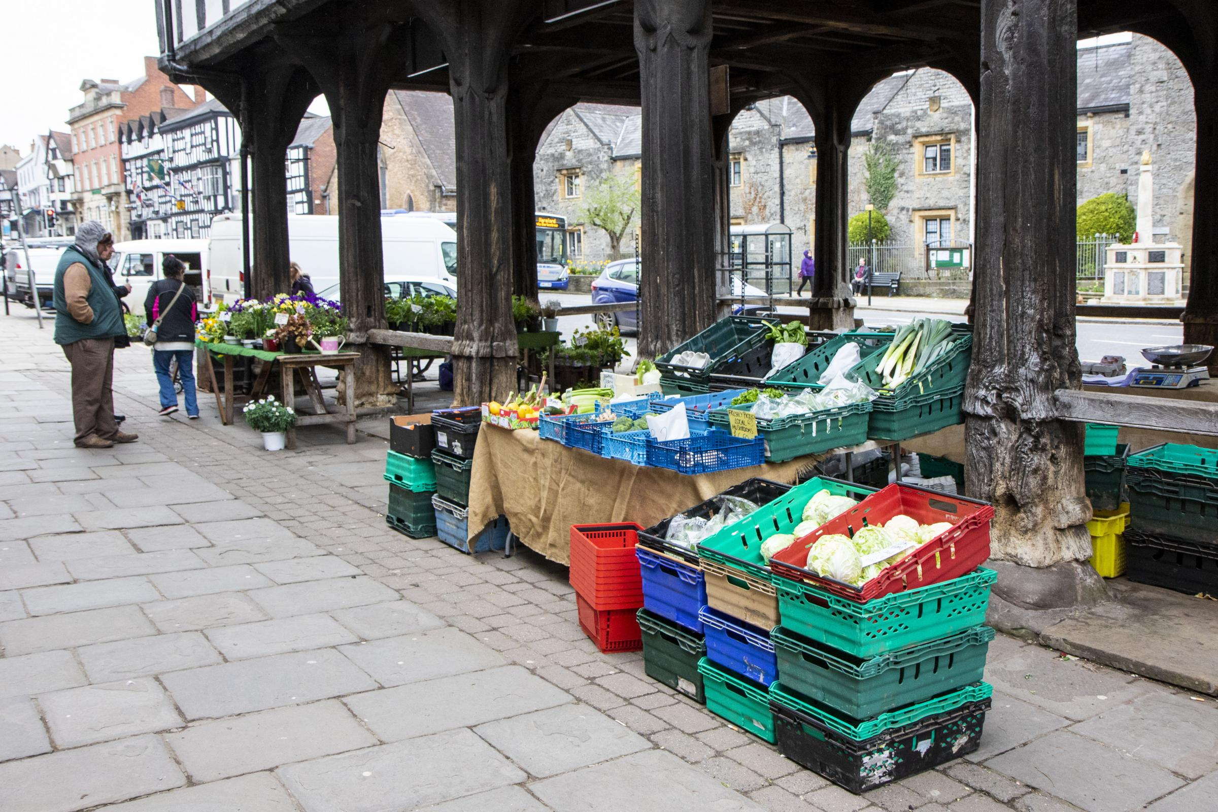 TRADITIONAL: Fresh produce on sale at Ledbury's Charter Market. But could there soon be stalls for political parties?