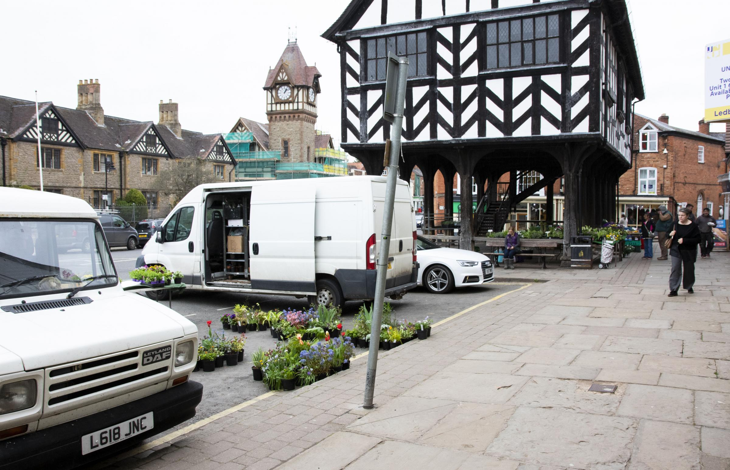 CONCERNS: There are sometimes only 2-3 stalls on a Tuesday market in Ledbury. This week was slightly better.