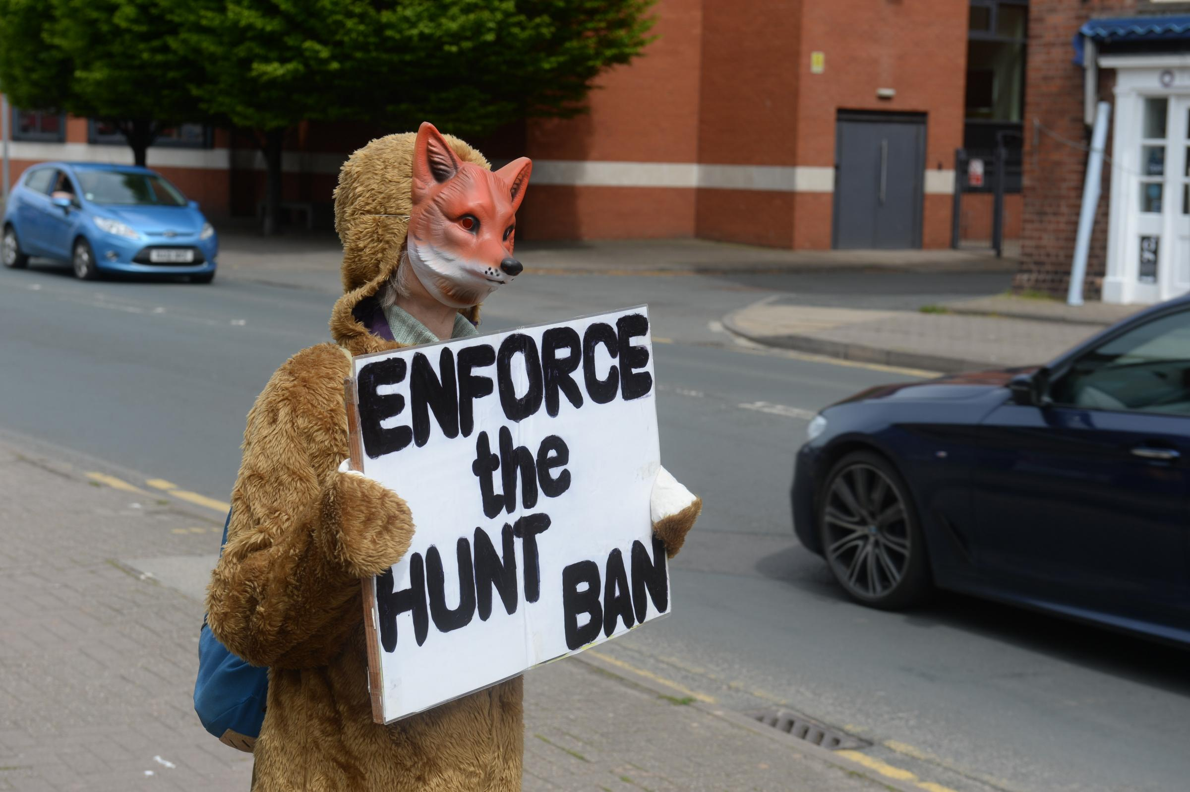 Protest outside Hereford Police Station