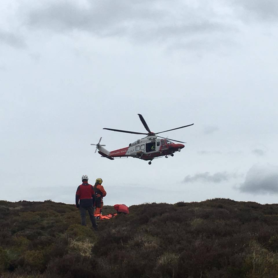 Horse rider airlifted to hospital following fall in Black Mountains