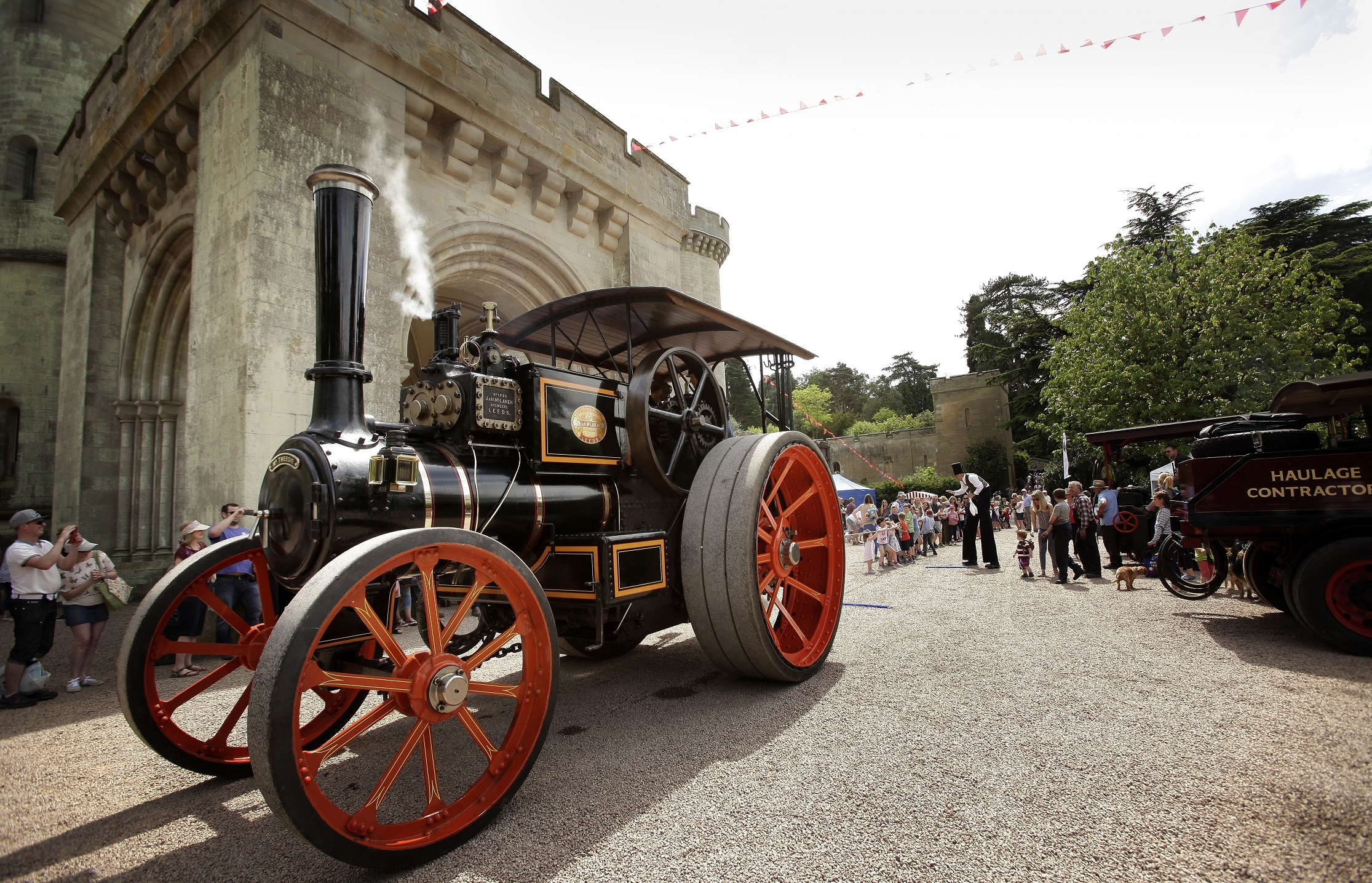 NOSTALGIC: Full steam ahead to the past at Eastnor Castle