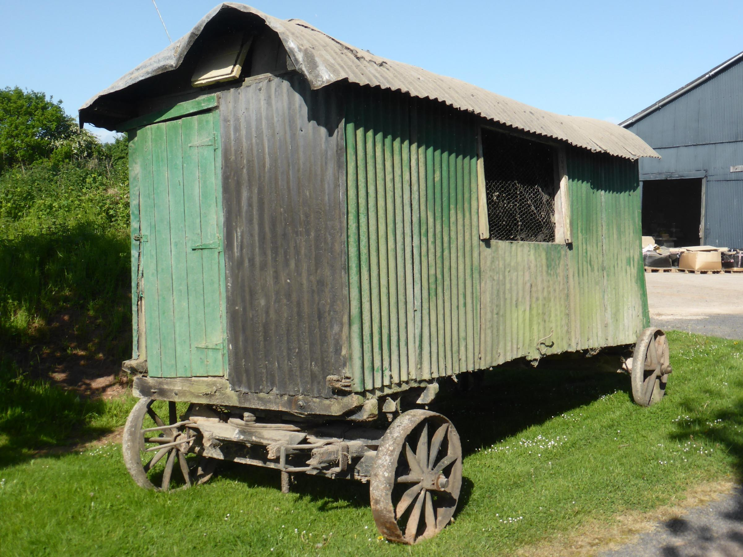 The 19th century shepherd's hut which is thought to have once housed a lion.