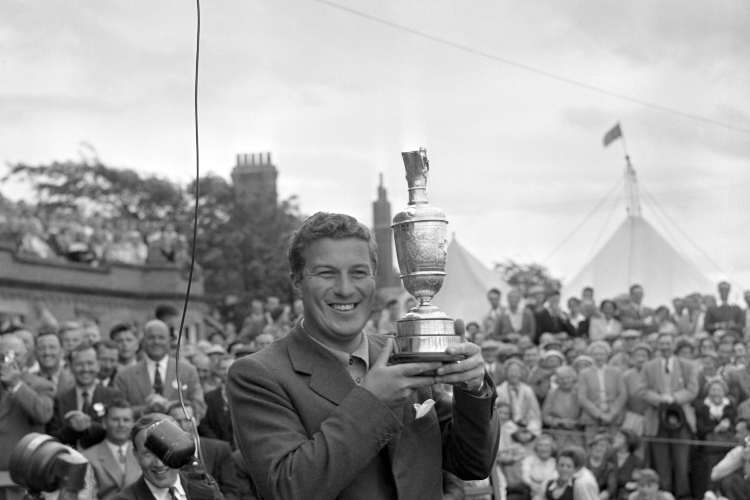 Australian Peter Thomson was a five-time winner of the Open Championship.