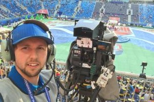 World Cup camera operator Zachary Flynn, from Hereford