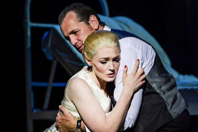 DRAMATIC: Lucy O'Byrne as Evita and Mike Sterling as Juan Peron