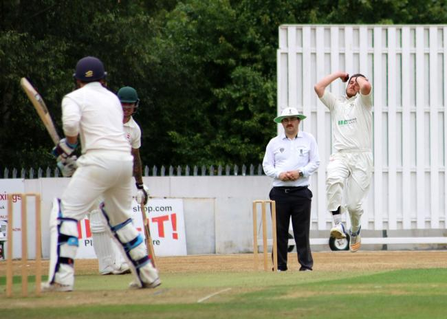 Bowler Liam Weston helped lead Kidderminster to promotion