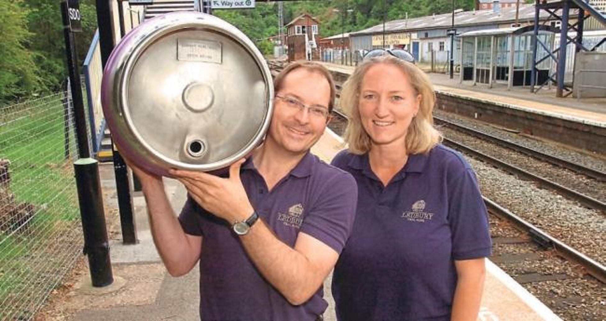 ON TOUR: Anthony and Kate Stephens of Ledbury Real Ales, which is offering green hop beer this autumn