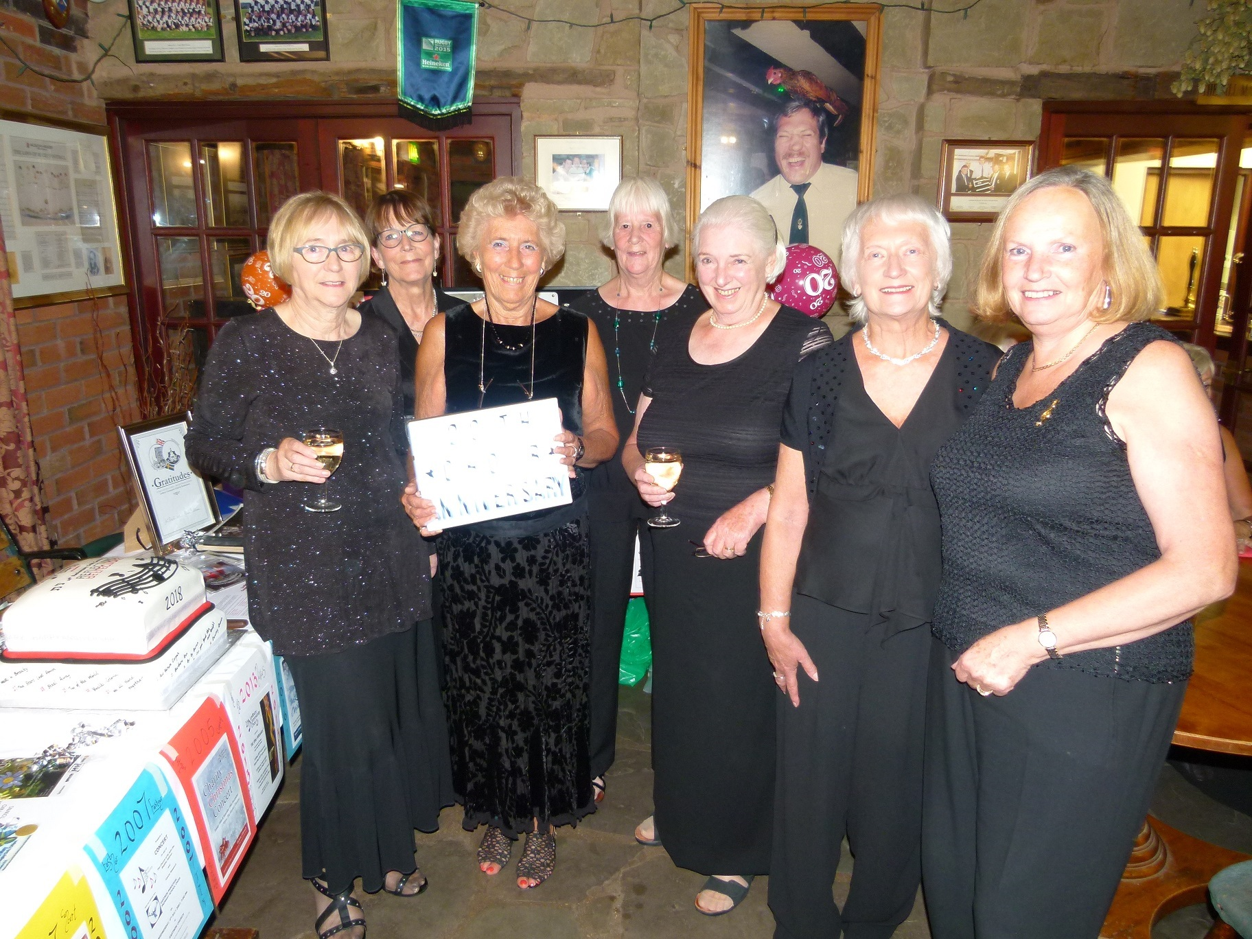 CELEBRATNG: Members of Ledbury Community Choir at the 20th anniversary concert. Pic by Andy Ward