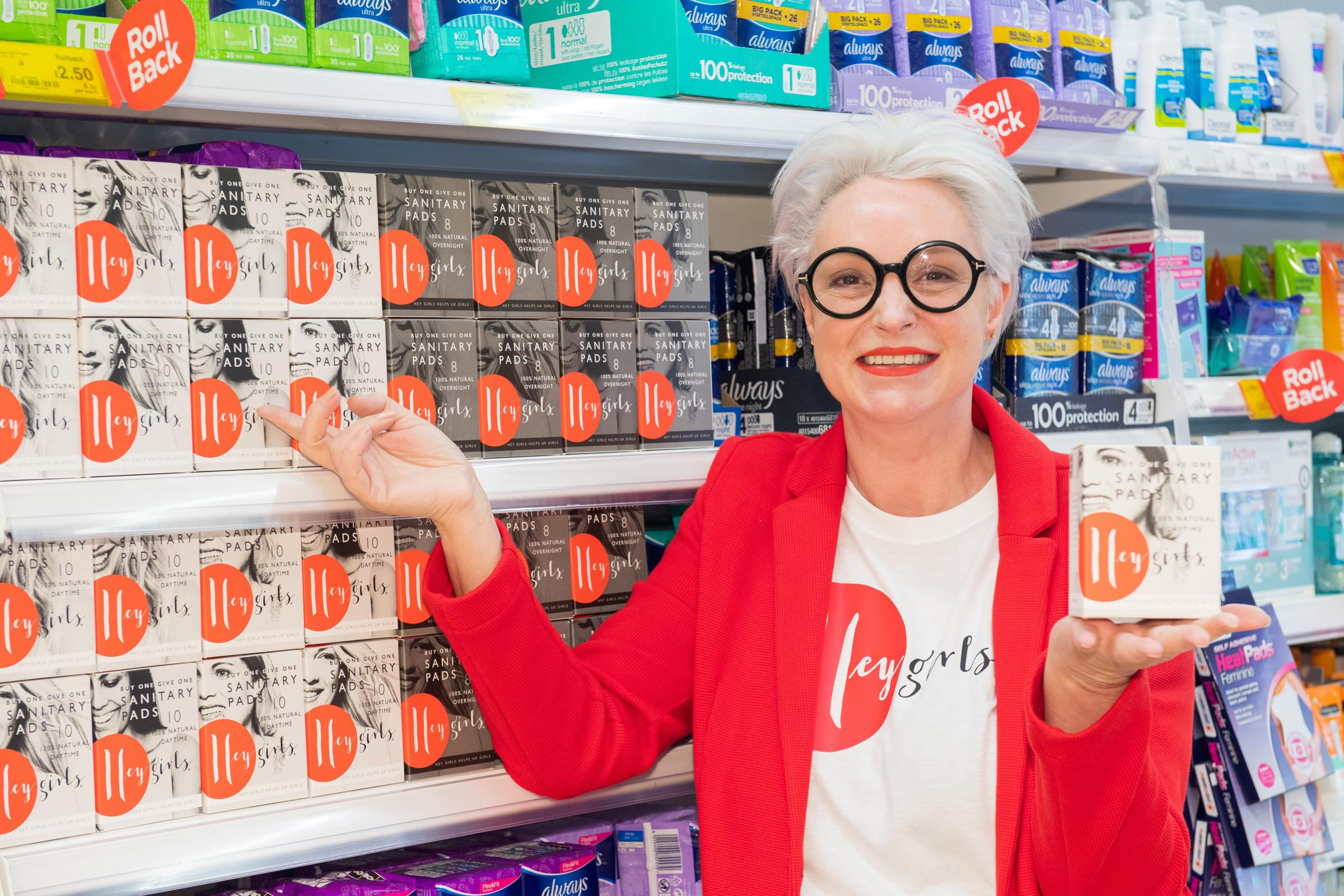 Hey Girls CEO Celia Hodson (pictured) has joined forces with Asda Hereford to tackle the problem of period poverty in the community.