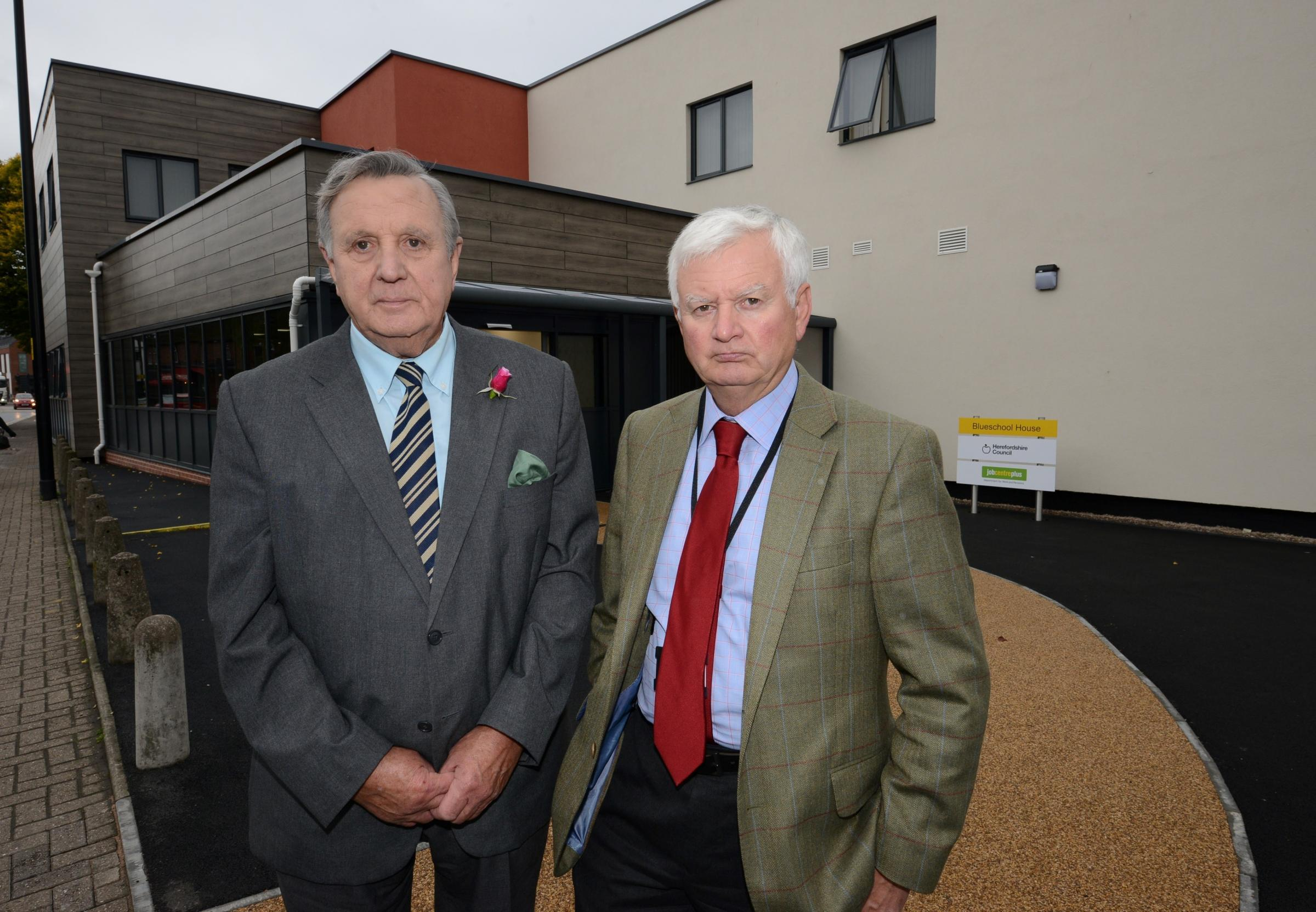 Independent Councillors Bob Matthews and John Hardwick were some of the councillors who criticised the overspend at Blueschool House, Hereford