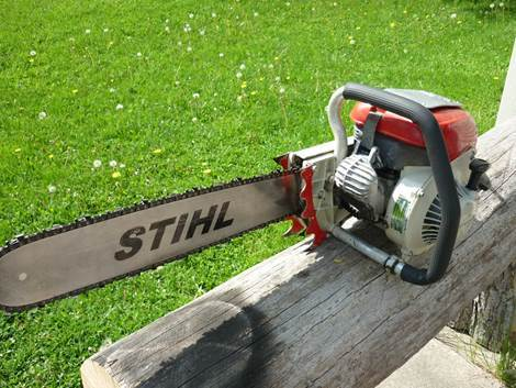 This unusual 'long reach' old chainsaw was stolen in a shed theft in Leominster