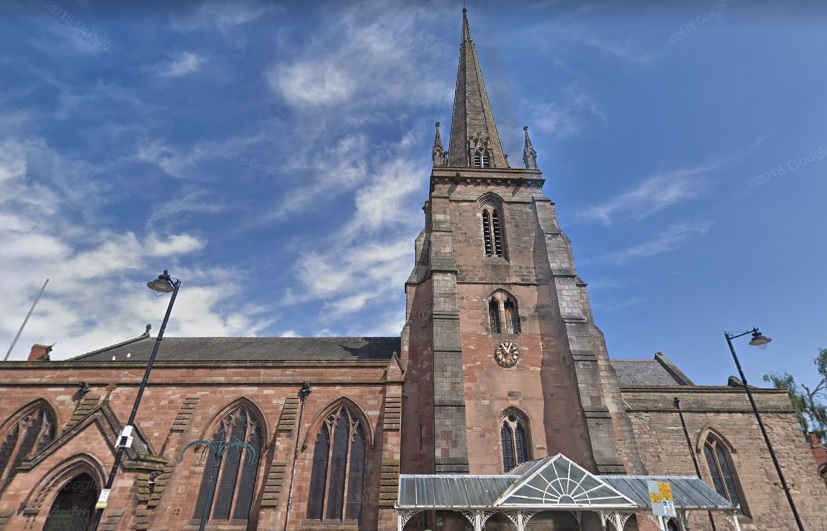 St Peter's Church will host Herefordshire Mind for one week to mark the organisation's 40th anniversary. Image: Google Maps.