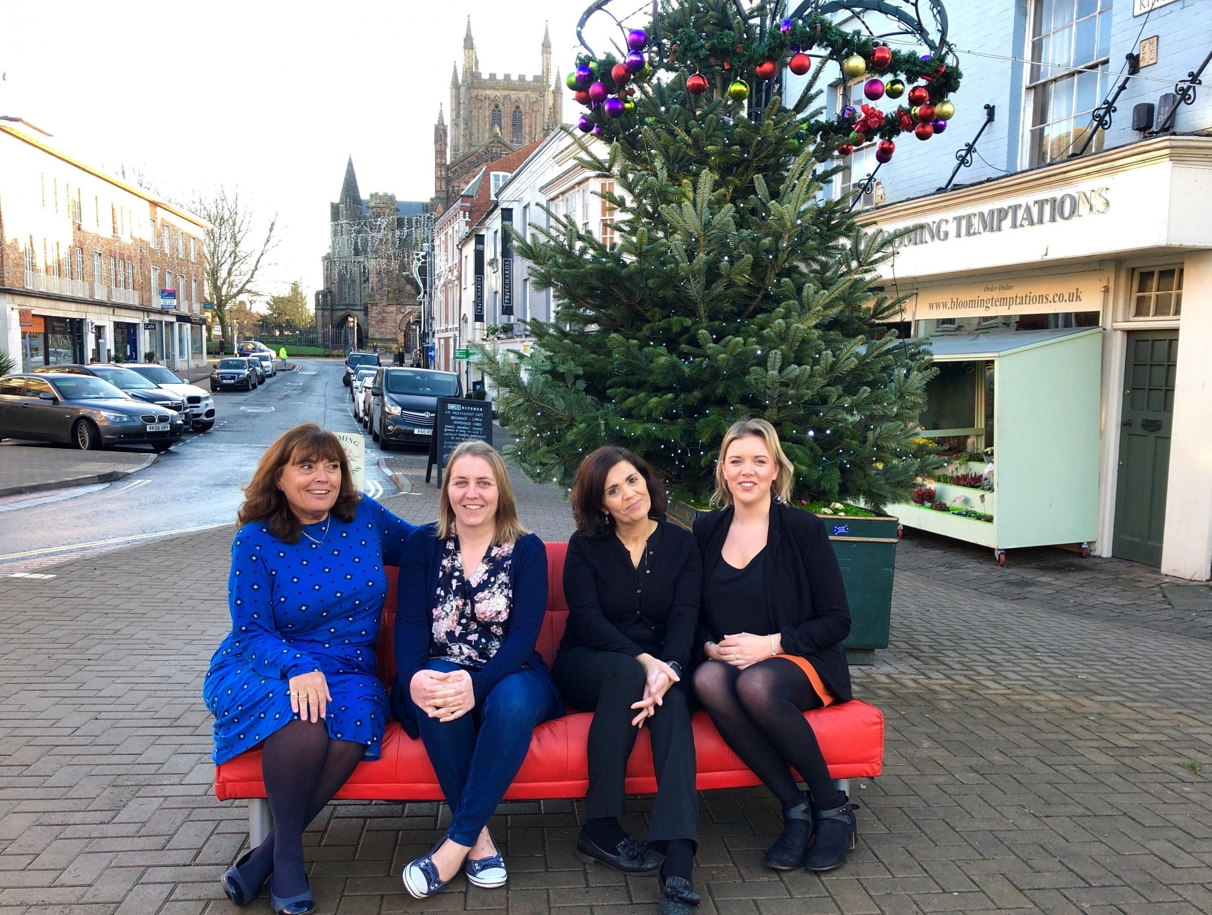 Pictured left to right: Lyn from Stook Hill and Walsh, Tanya from JJ and Little Dots and Charlotte and Leandra from Northwood Hereford Estate and Letting Agents