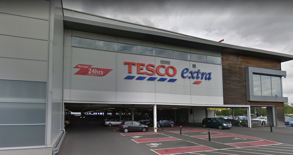 The woman fell ill on the car park of Tesco Extra in Dudley. Photo: Google Maps.