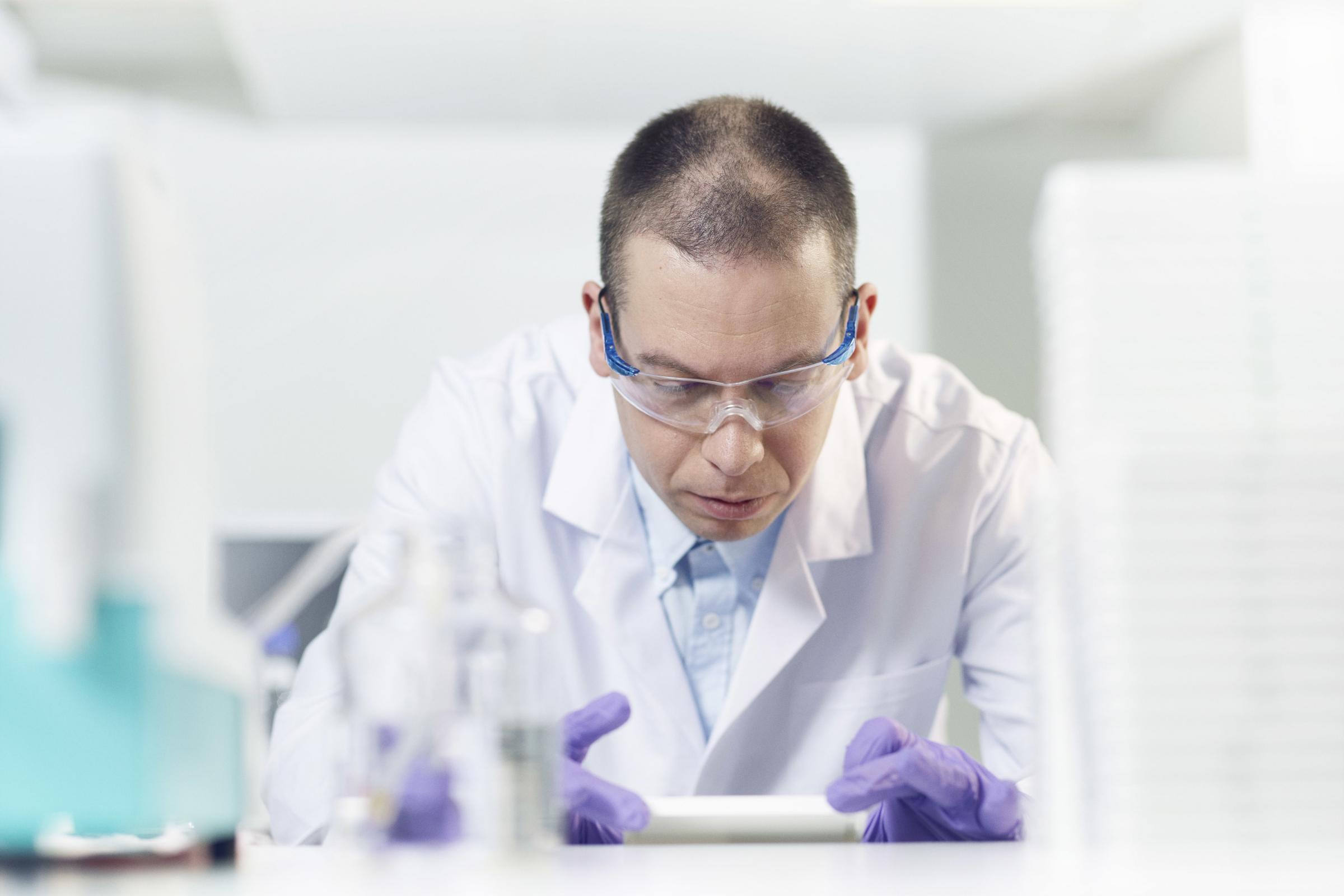 A sciientist in a laboratory