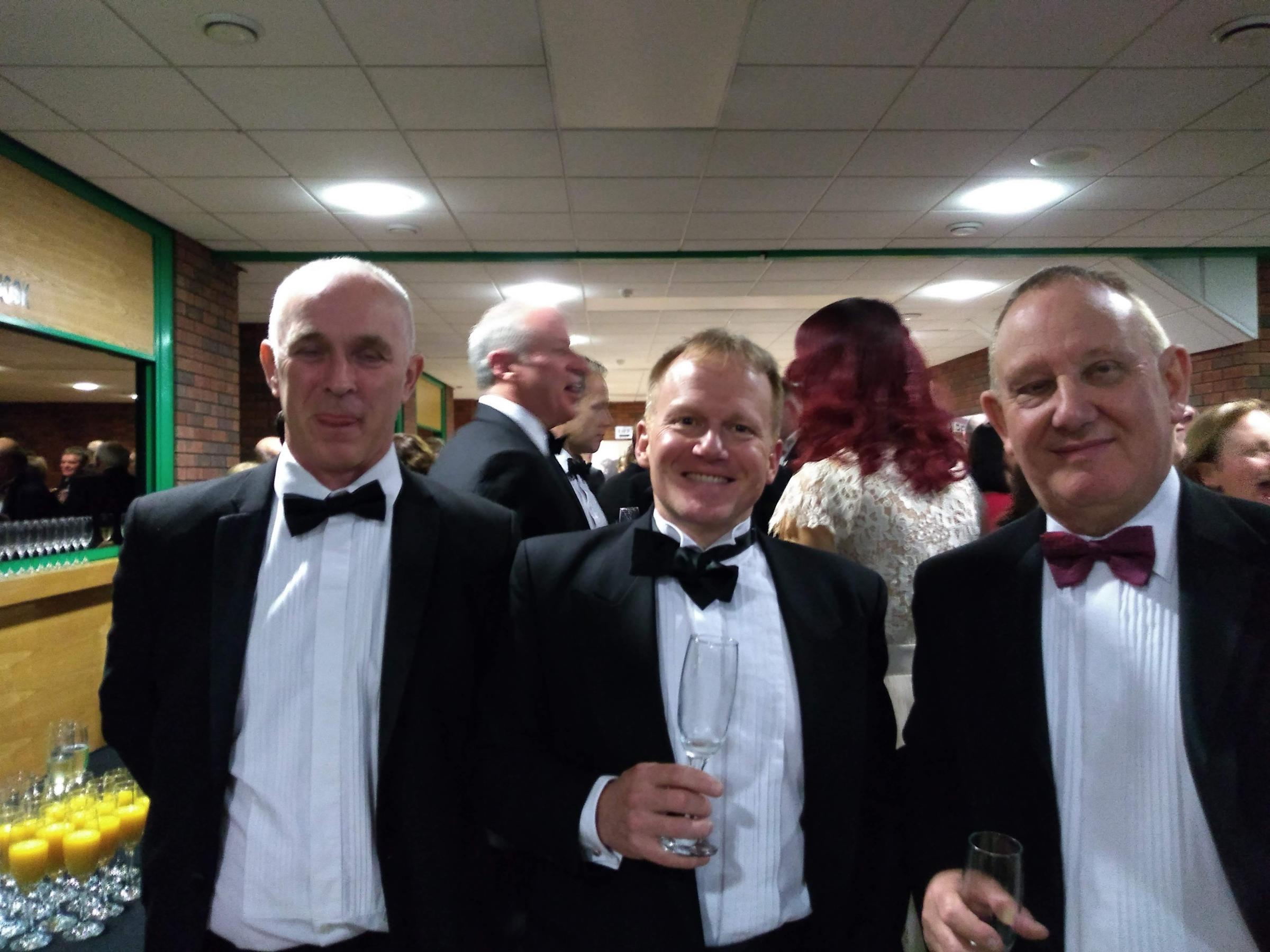 AWARD: Airband's Richard Blackburn, finance manager Andrew Price and operations director Pete Mathers