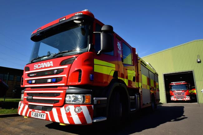 SHINY: Ledbury's new fire engine