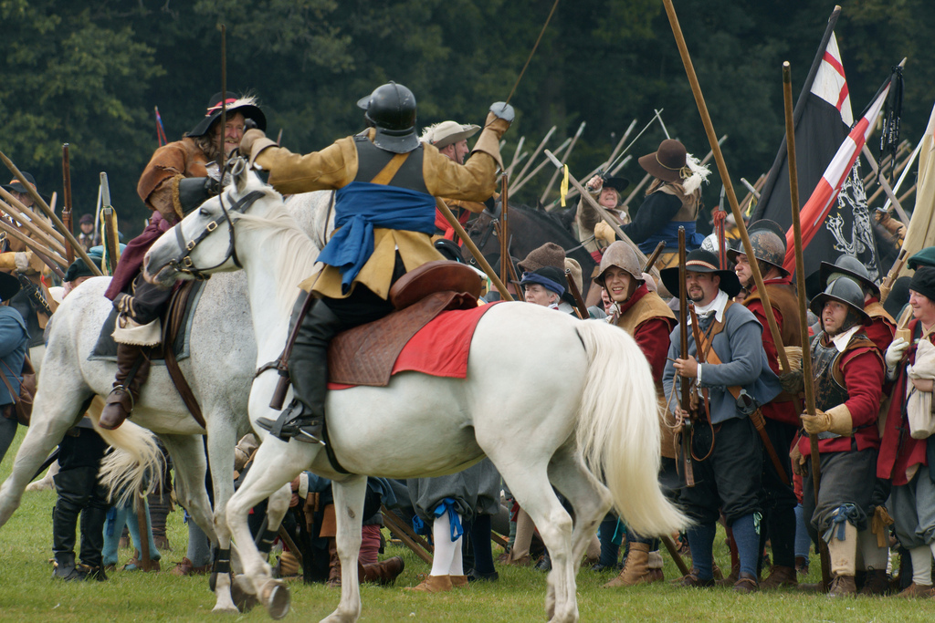 SKIRMISH: Such thrilling scenes will be seen in Ledbury this July