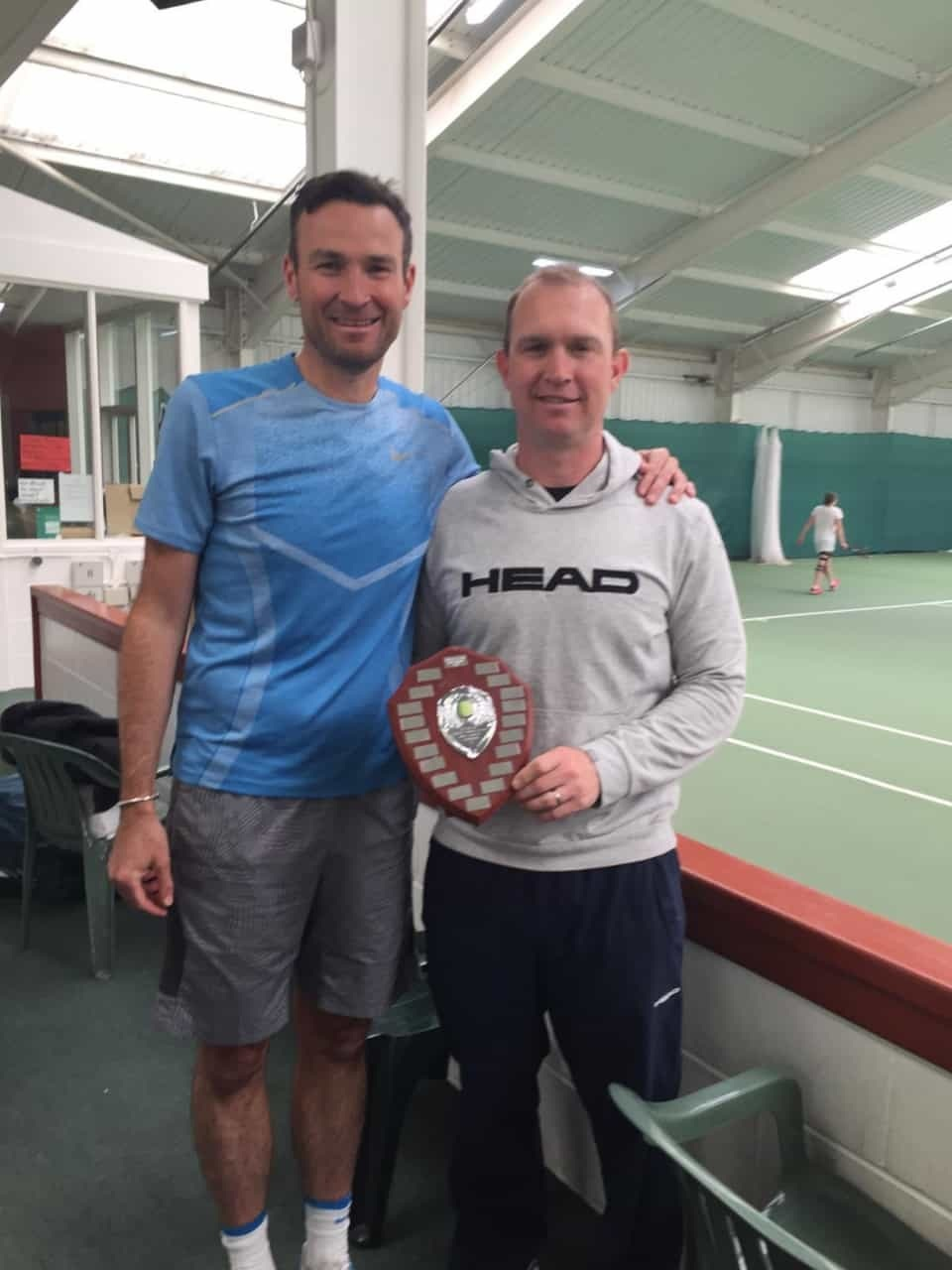 County senior doubles champions Paul Burgess and Chris Marlow from Manor Park. Picture: JANE POYNDER