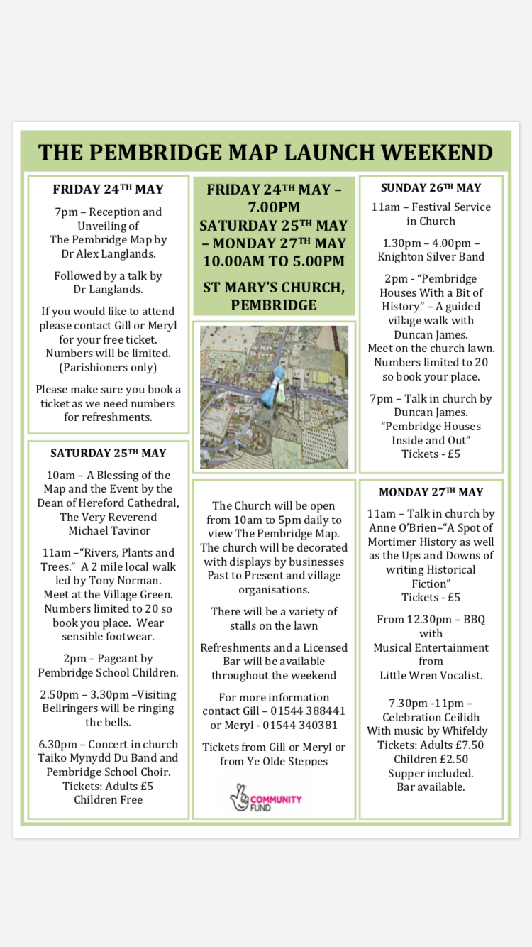 The Pembridge Map Launch Weekend