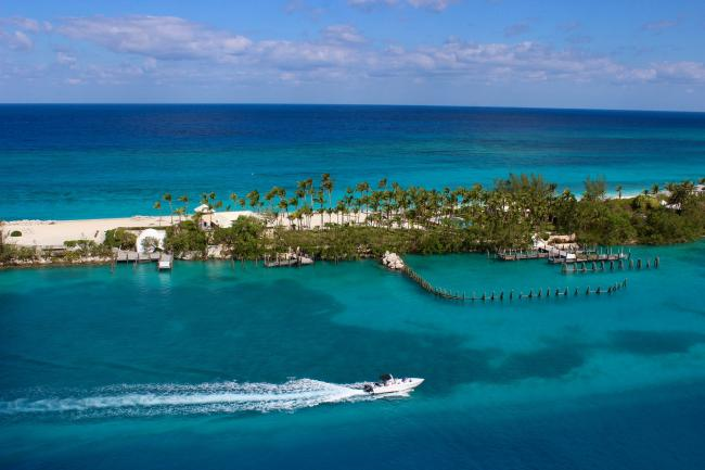 Nassau, Bahamas. The Caribbean country is one of several offshore financial centres.